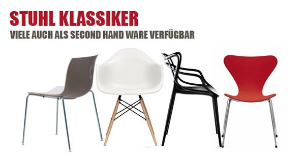 Stuhlklassiker als Second-Hand-Ware zu günstigen Preisen