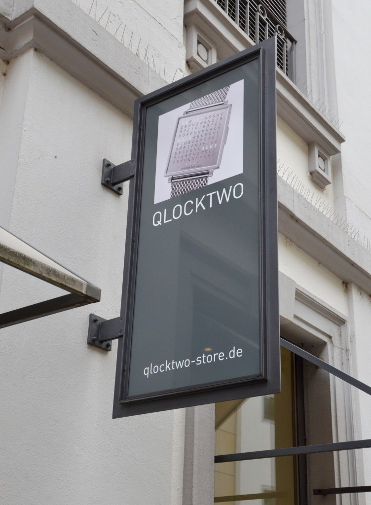 Qlocktwo in Karlsruhe